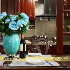 精选142平米四居厨房美式装修效果图片欣赏