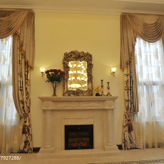 精美137平米美式别墅客厅装饰图