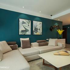 热门97平方三居客厅现代装饰图