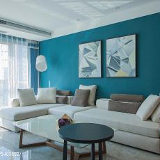 轻奢130平现代三居客厅效果图