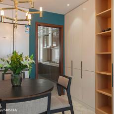 精选面积107平现代三居餐厅装修实景图片欣赏
