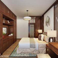 精美97平米三居卧室中式装修效果图片欣赏