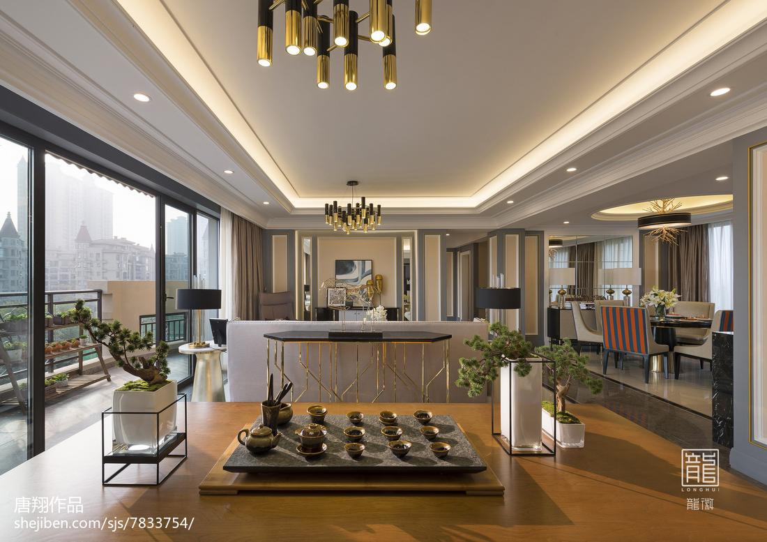 92.2平2018现代客厅设计效果图