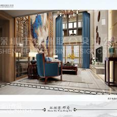 热门118平米中式别墅客厅装修设计效果图片大全