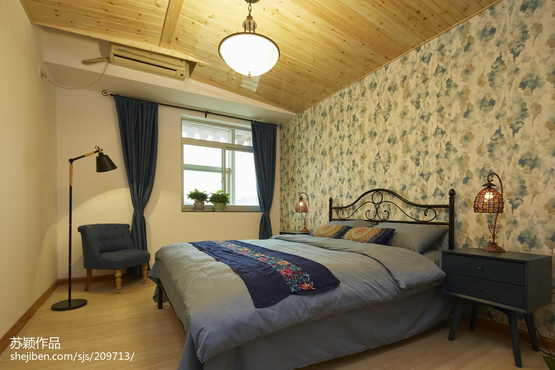 精美面积79平混搭二居卧室装修图片大全