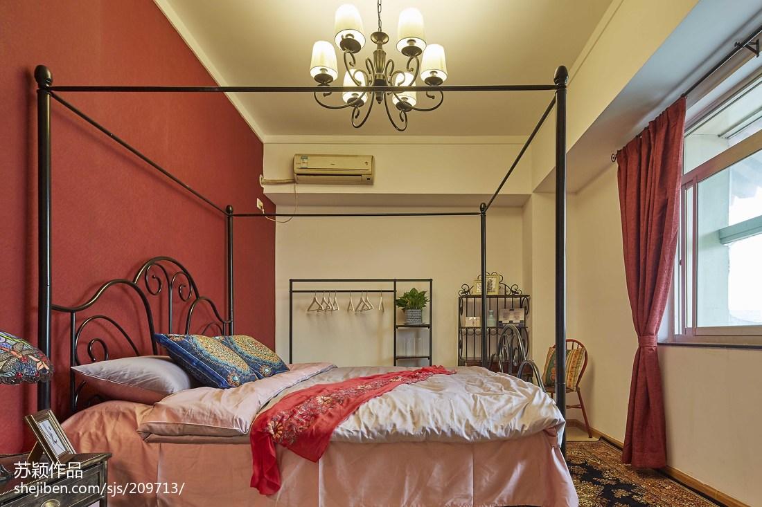 热门80平米二居卧室混搭装修效果图片欣赏