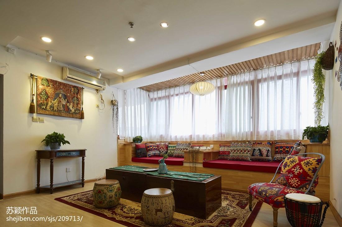 精美75平方二居客厅混搭装修欣赏图