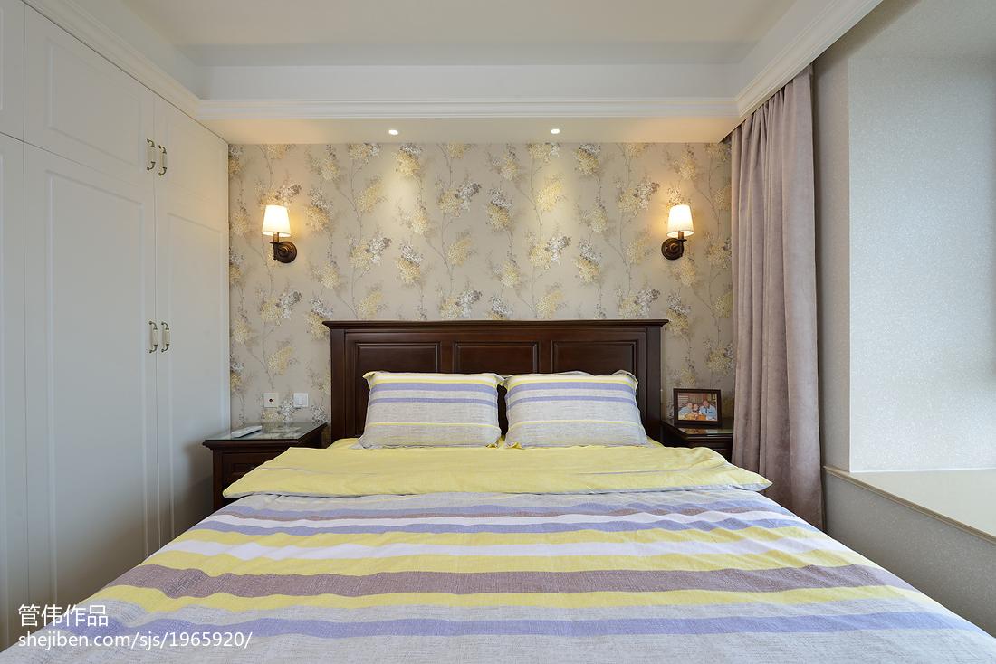 二居卧室美式装修效果图片