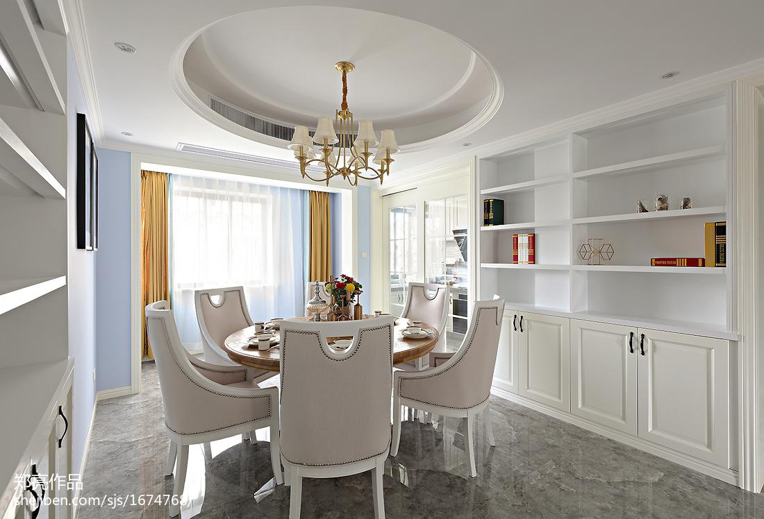 典雅113平法式三居装修设计图