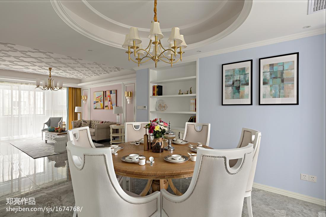 浪漫75平法式三居餐厅图片大全