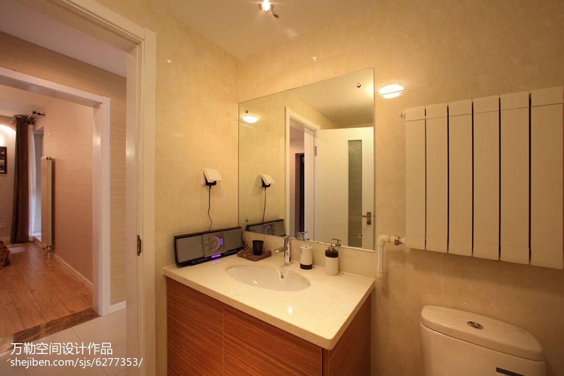 精美89平米二居卫生间简约装修设计效果图