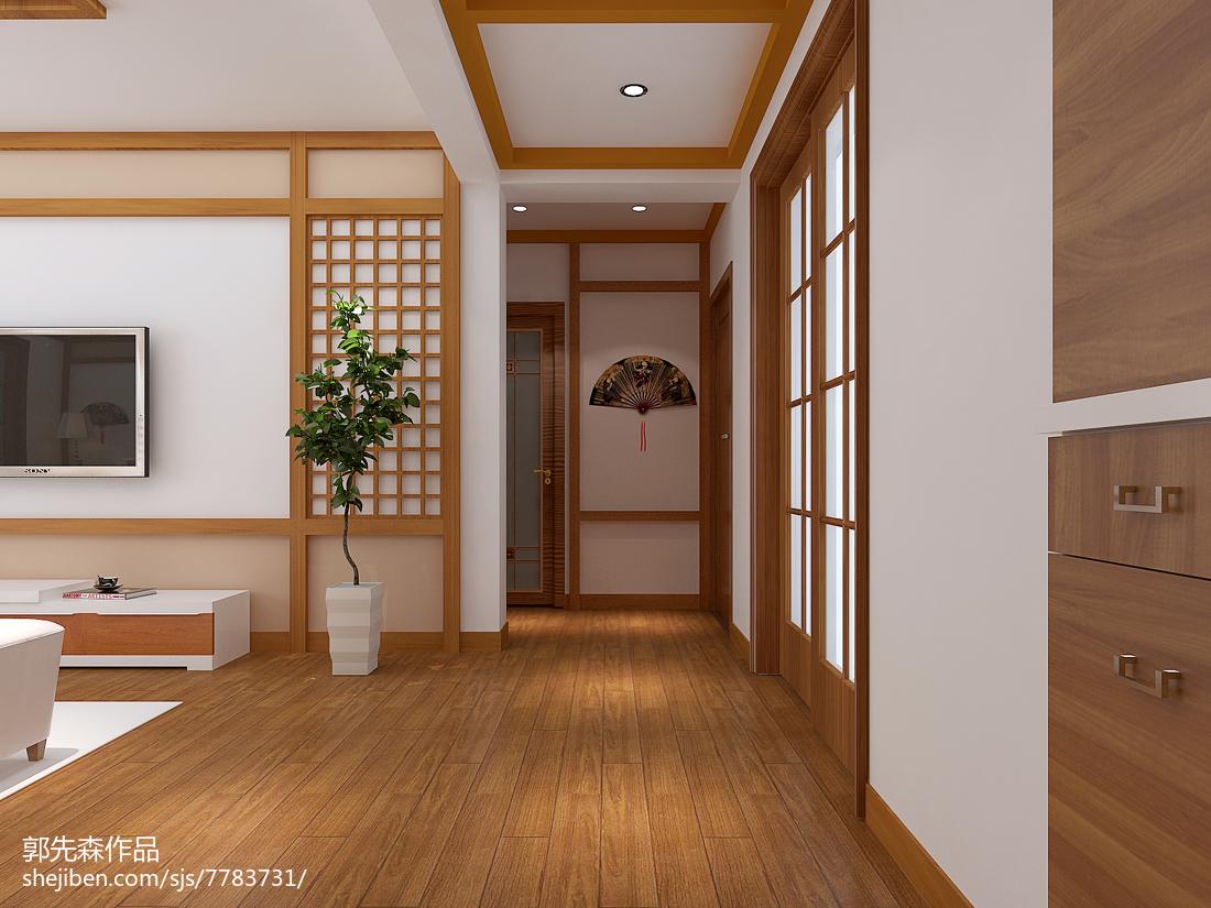 精选面积96平现代三居装修实景图片