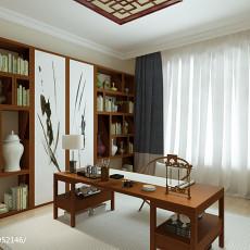 面积96平中式三居书房装修欣赏图