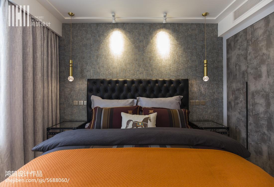 明亮115平现代三居卧室实拍图