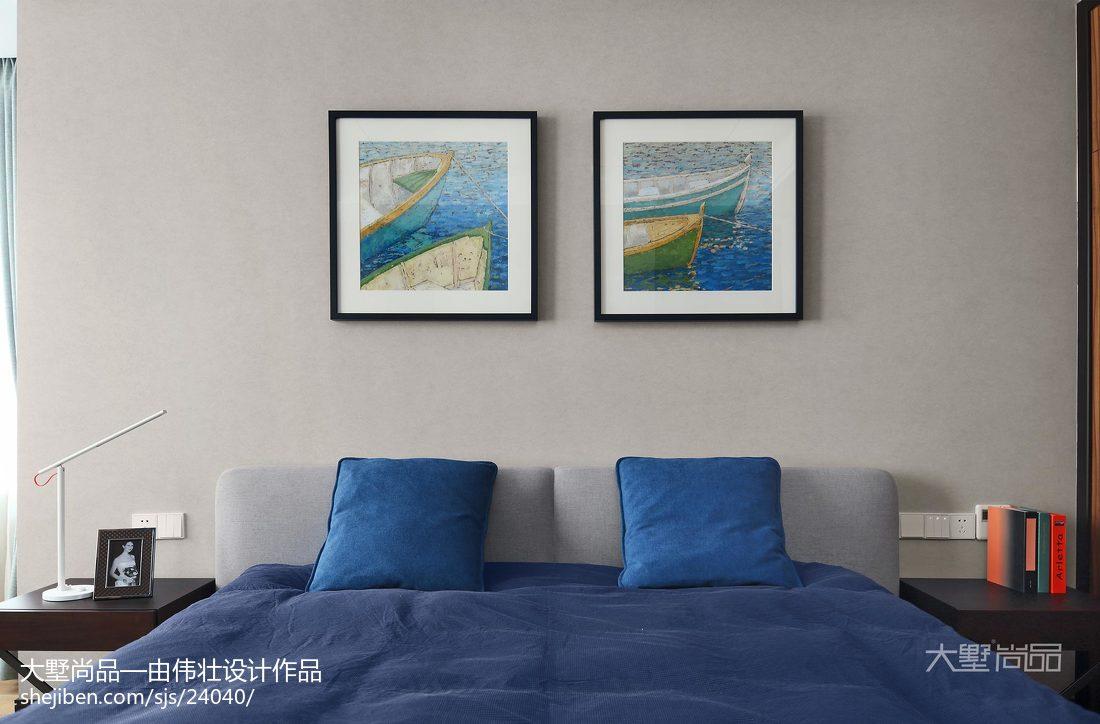 2018106平米三居卧室简约装修欣赏图