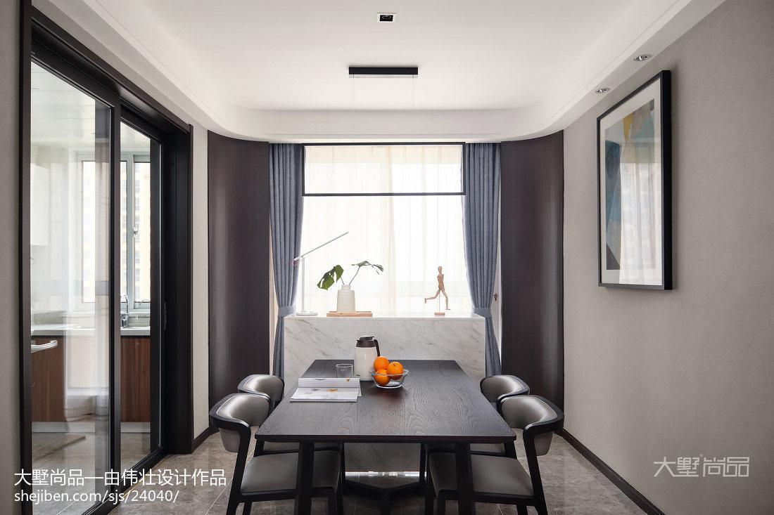 热门95平米三居餐厅简约装修图片