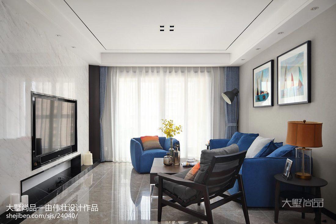 2018精选94平米三居客厅简约装修图片大全