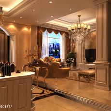 2018精选面积120平复式客厅欧式效果图片大全