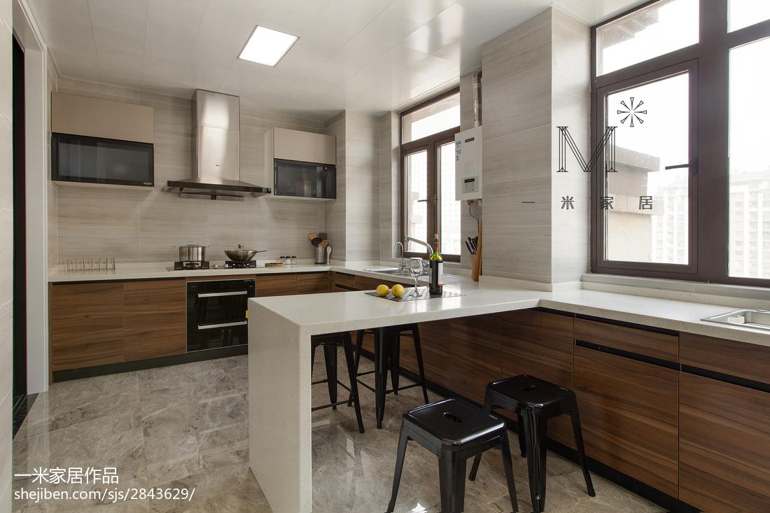 热门122平米现代复式厨房装修图