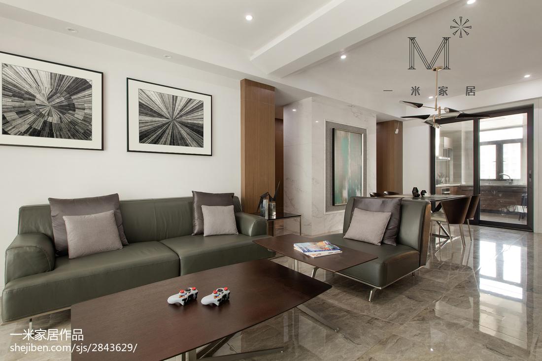 2018面积113平复式客厅现代装修欣赏图片大全