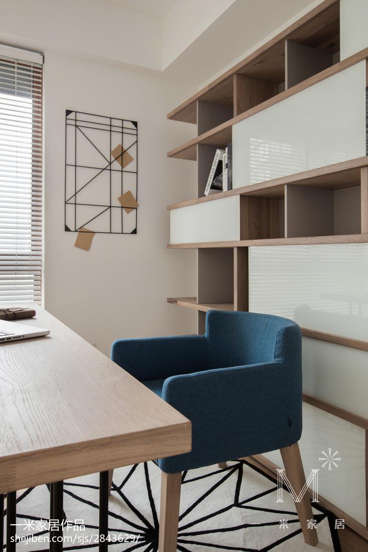 2018精选面积90平日式三居书房装修设计效果图片大全