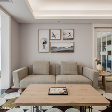 热门面积96平日式三居客厅欣赏图片