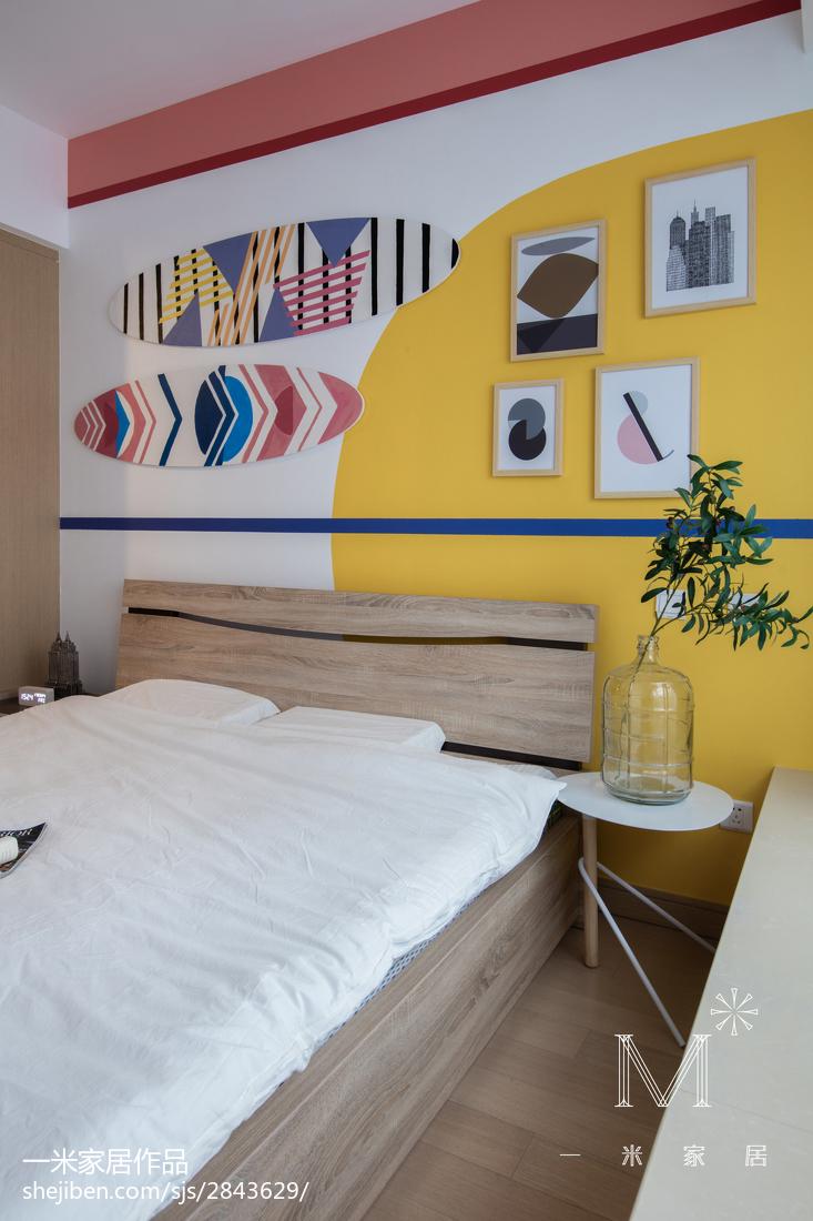 热门面积95平北欧三居卧室欣赏图