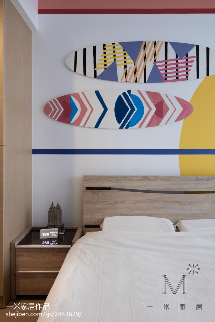 热门面积106平北欧三居卧室欣赏图
