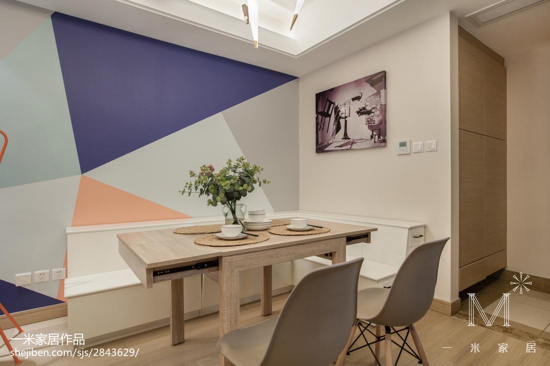 热门面积95平北欧三居餐厅装修欣赏图