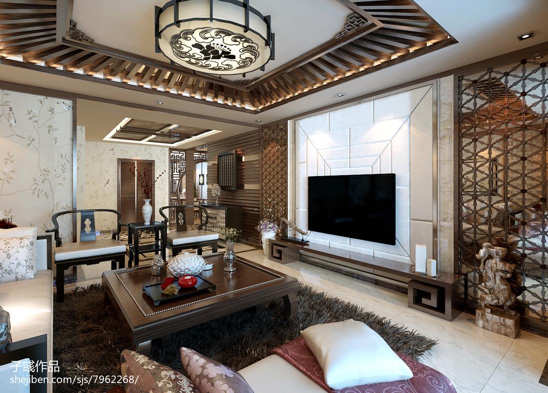中式客厅装修设计图片