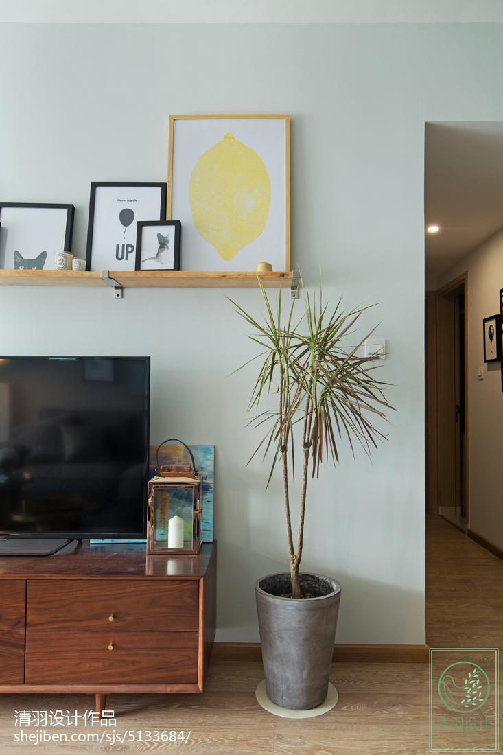 精选80平米二居客厅北欧装修实景图片