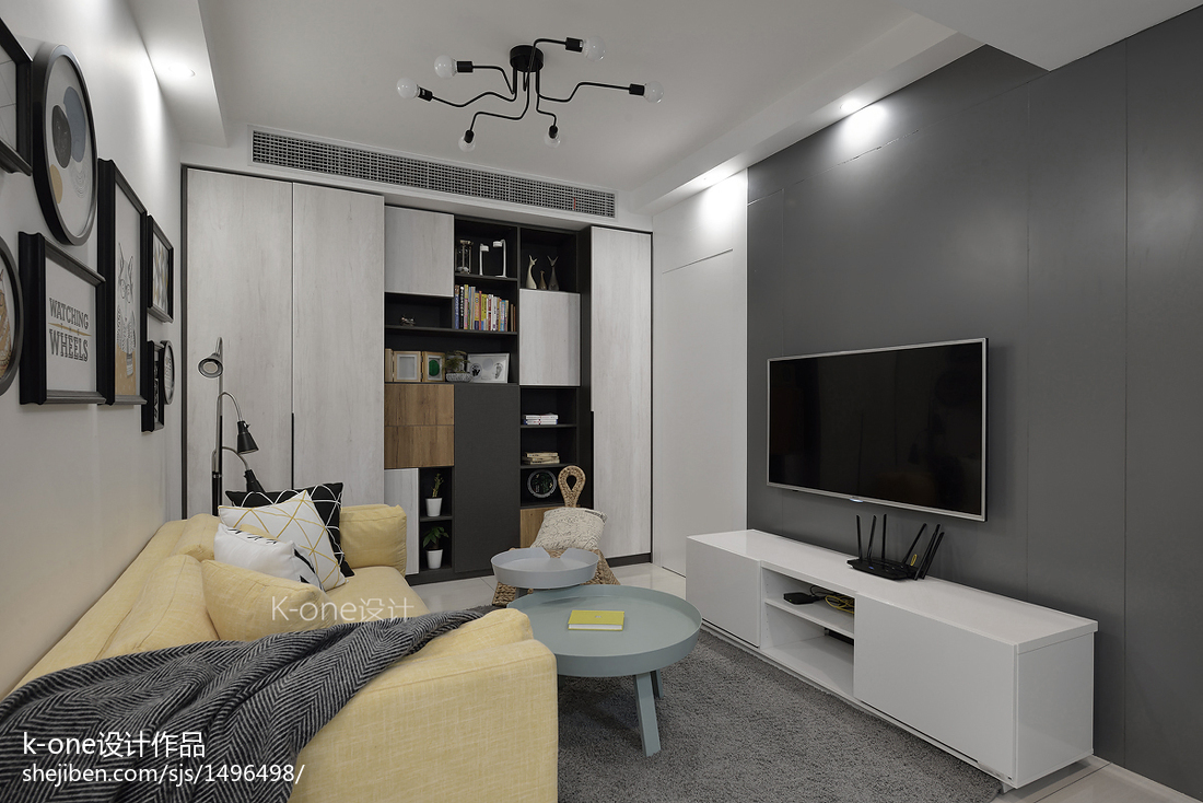 客廳白色電視柜