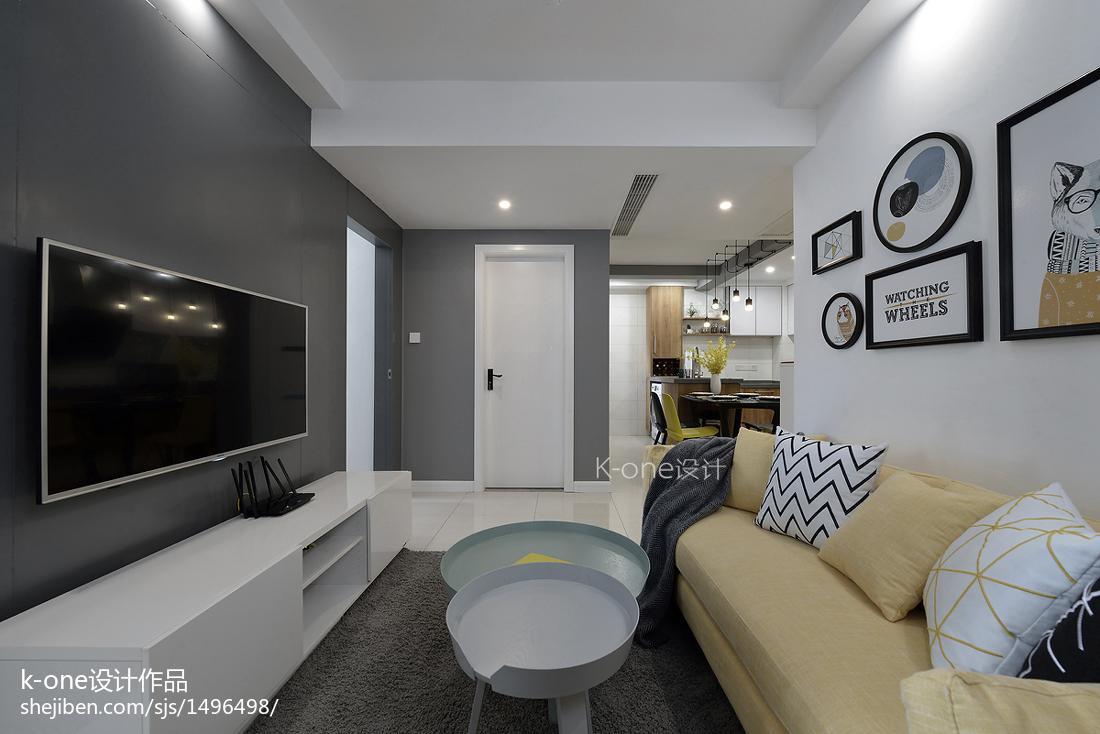 热门大小88平现代二居客厅装修图片欣赏