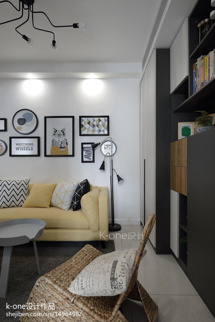 简洁56平现代二居设计美图