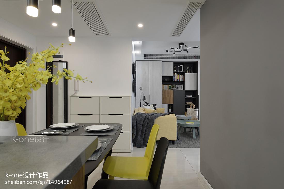 2018精选77平米二居餐厅现代装修设计效果图片欣赏