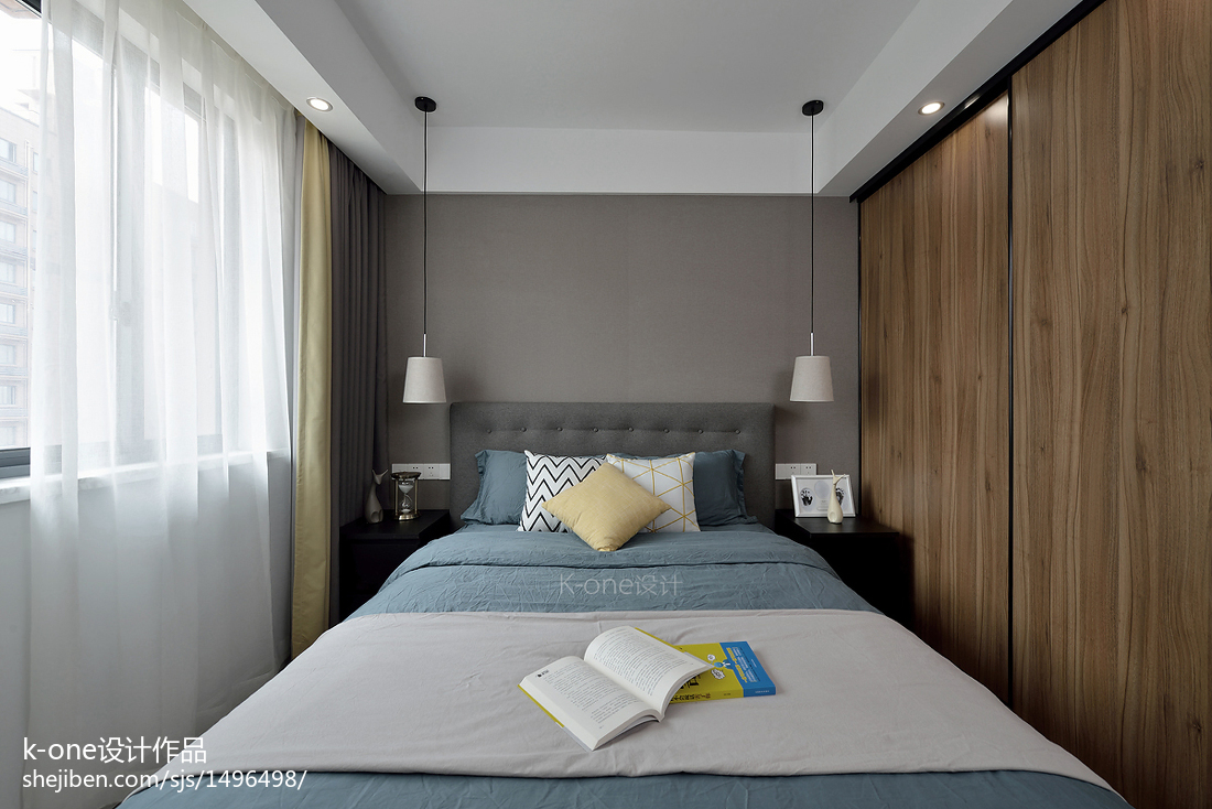 浪漫62平现代二居卧室实拍图