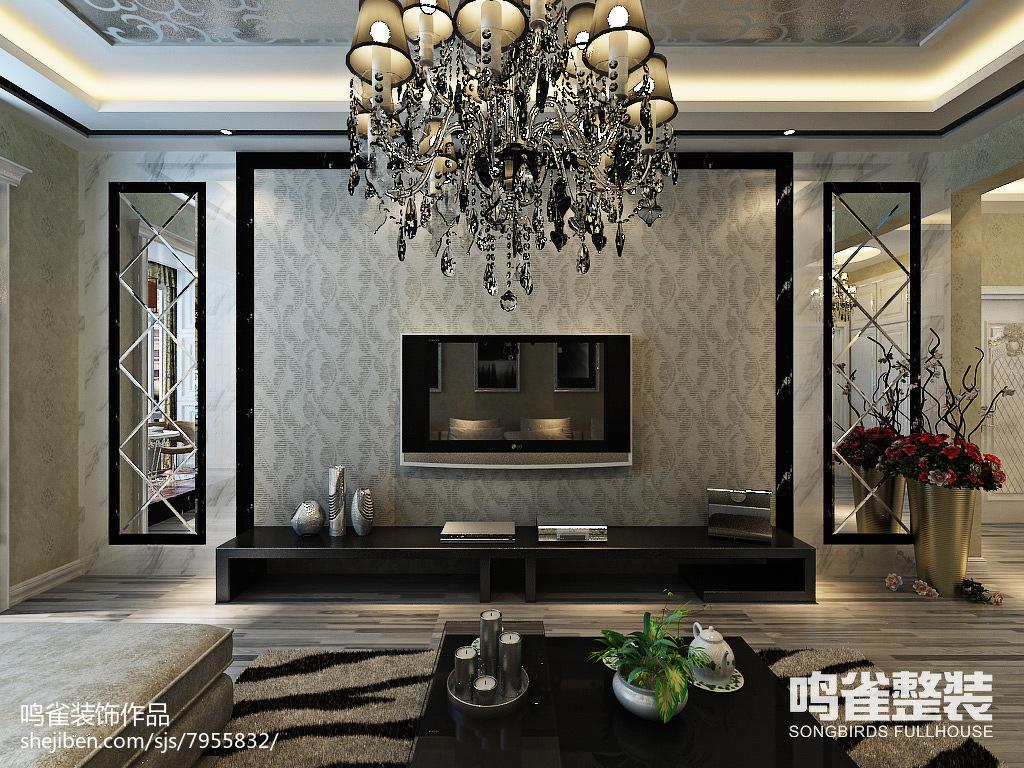 精美面积99平宜家三居装修设计效果图片