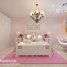 74平米二居卧室美式装修图片