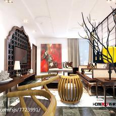 2018精选二居客厅东南亚设计效果图