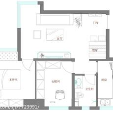 精选90平米二居客厅东南亚装修效果图片