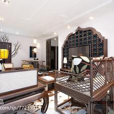 2018精选面积82平东南亚二居客厅设计效果图