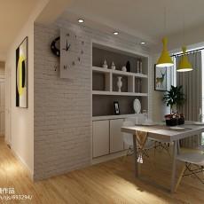 热门92平方三居餐厅现代装修实景图片欣赏