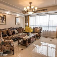 热门72平米二居客厅美式效果图片