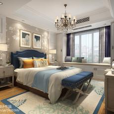 热门103平米三居卧室美式装修实景图
