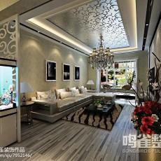 精美90平米二居客厅现代效果图
