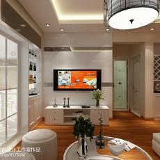 热门大小104平现代三居客厅装饰图片