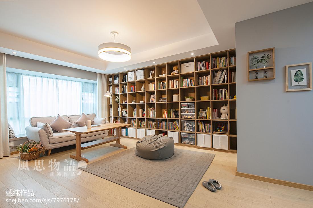 2018120平米四居客厅日式装修效果图片欣赏