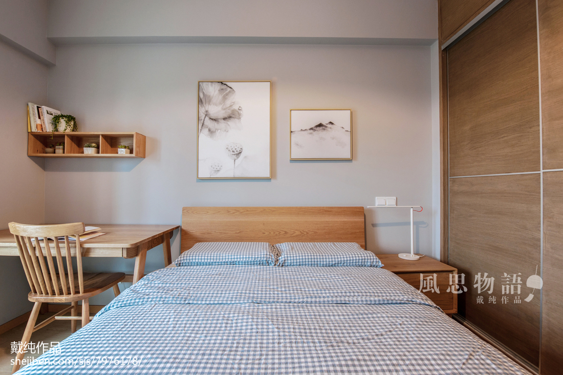 精美111平米四居卧室日式实景图