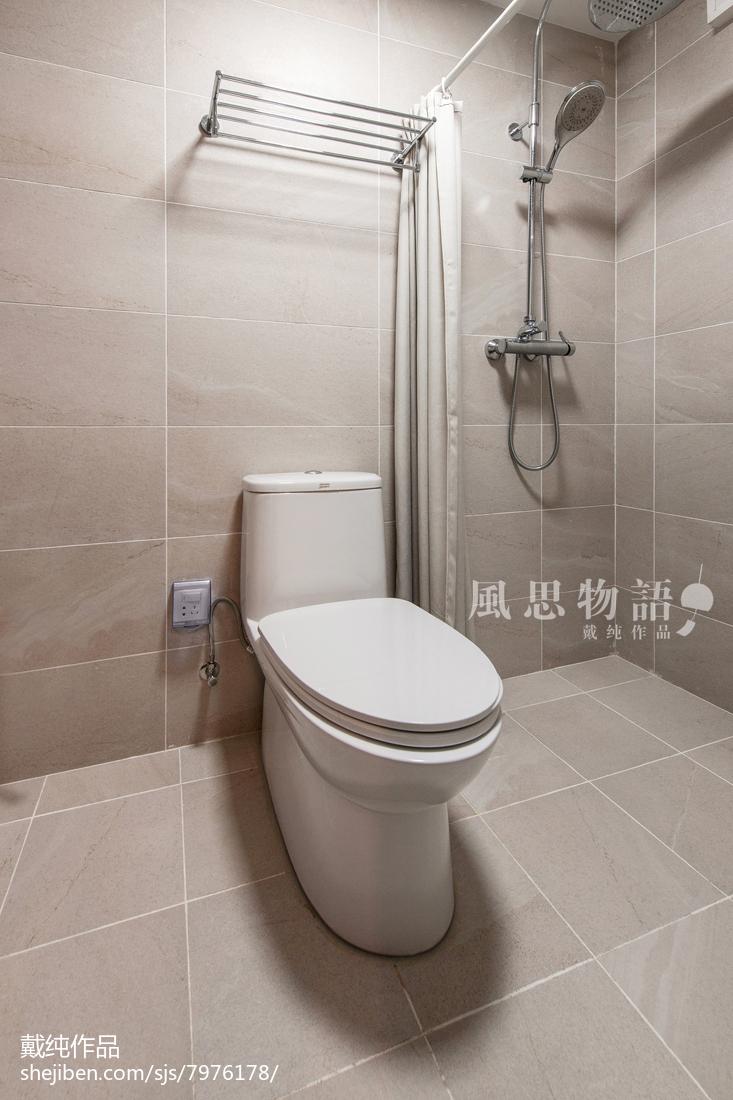 2019136平日式四居卫生间设计案例