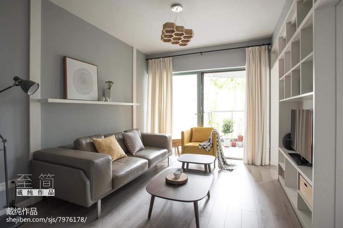 面积87平现代二居客厅实景图